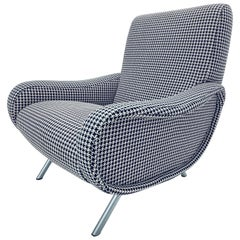 Marco Zanuso 720 Lady Chair for Arflex with Custom Upholstery