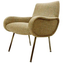 "Marco Zanuso Armchair, New ""Chanel"" Upholstery, circa 1951"