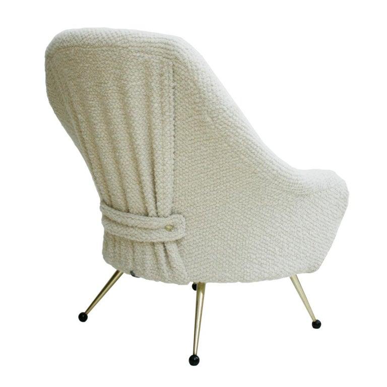 20th Century Marco Zanuso by Arflex Mid-Century Modern Mod. Martingala White Italian Armchair For Sale