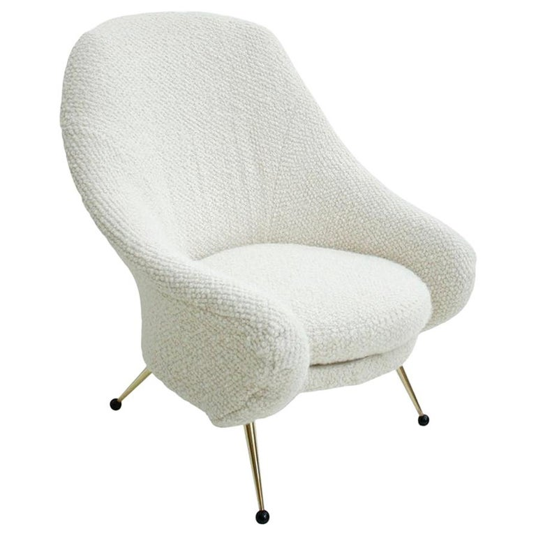 Marco Zanuso by Arflex Mid-Century Modern Mod. Martingala White Italian Armchair For Sale