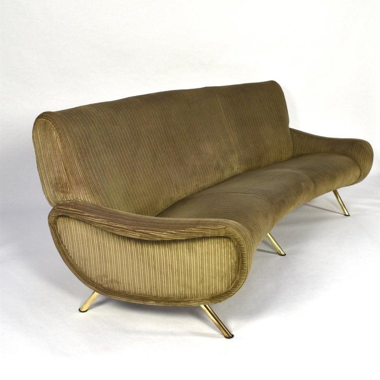 Mid-Century Modern Marco Zanuso Curved 'Lady' Sofa by Arflex, Italy, 1951 For Sale