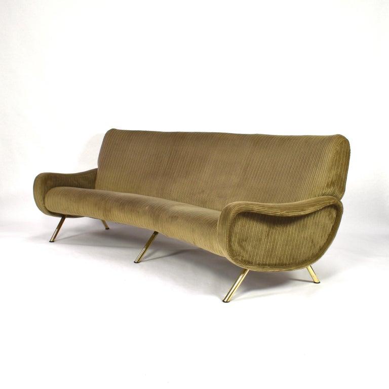 Italian Marco Zanuso Curved 'Lady' Sofa by Arflex, Italy, 1951 For Sale