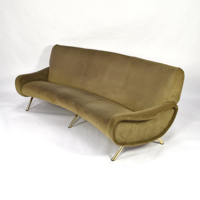 Marco Zanuso Curved 'Lady' Sofa by Arflex, Italy, 1951 In Good Condition For Sale In Pijnacker, Zuid-Holland