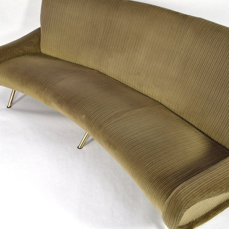 Mid-20th Century Marco Zanuso Curved 'Lady' Sofa by Arflex, Italy, 1951 For Sale