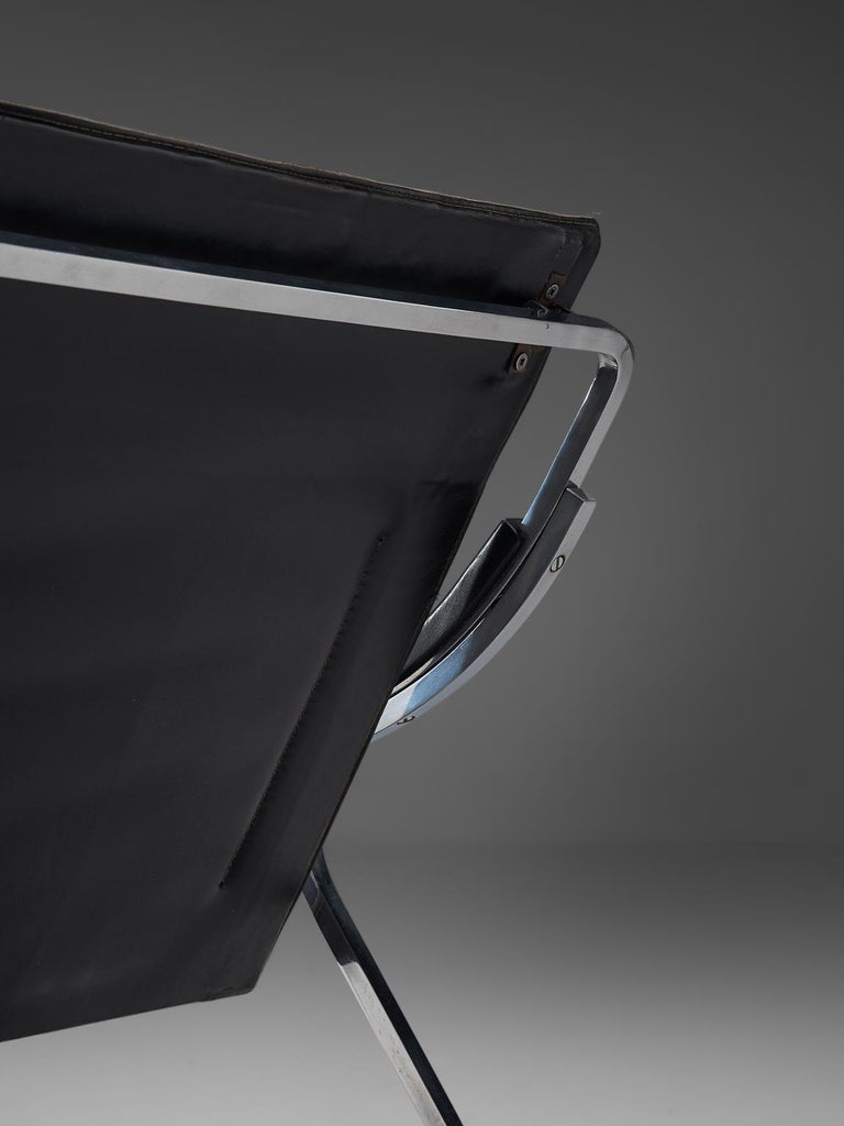 Mid-20th Century Marco Zanuso for Arflex 'Fourline' Chair in Leather For Sale
