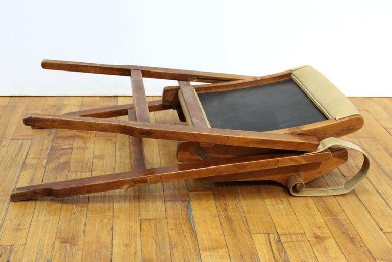 Marco Zanuso for Artflex Italian Mid-Century Modern Folding 'Bridge Chair' For Sale 5