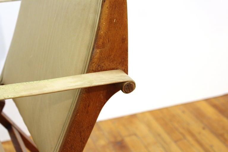 Marco Zanuso for Artflex Italian Mid-Century Modern Folding 'Bridge Chair' For Sale 6