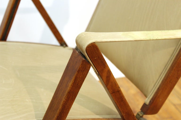 Marco Zanuso for Artflex Italian Mid-Century Modern Folding 'Bridge Chair' For Sale 7