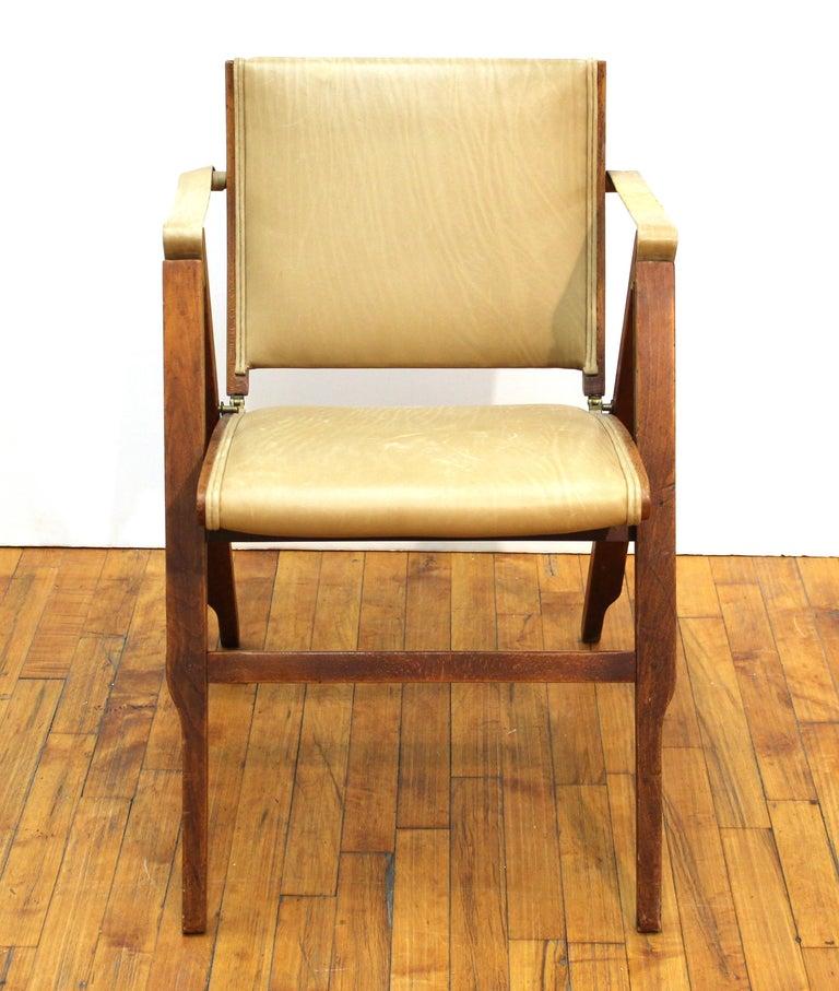 Mid-20th Century Marco Zanuso for Artflex Italian Mid-Century Modern Folding 'Bridge Chair' For Sale
