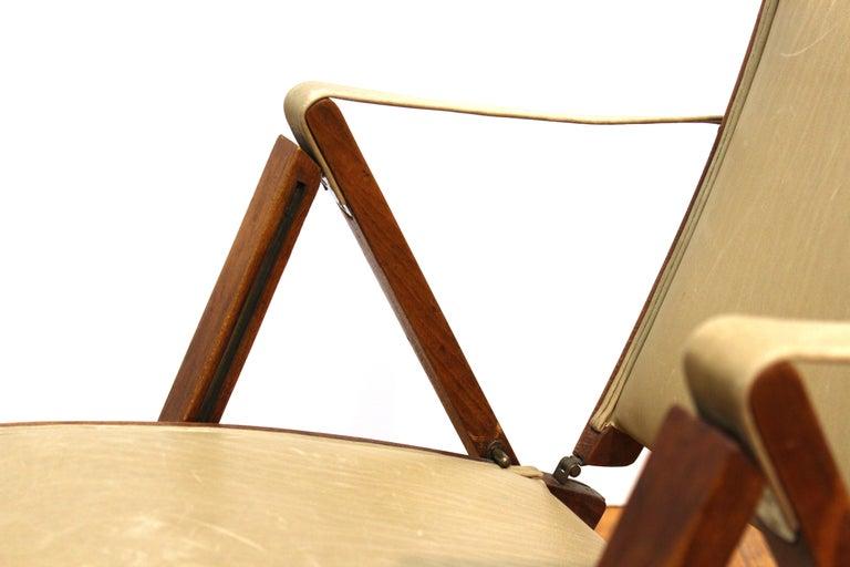 Marco Zanuso for Artflex Italian Mid-Century Modern Folding 'Bridge Chair' For Sale 1