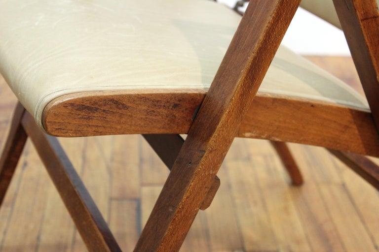 Marco Zanuso for Artflex Italian Mid-Century Modern Folding 'Bridge Chair' For Sale 2