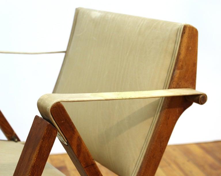 Marco Zanuso for Artflex Italian Mid-Century Modern Folding 'Bridge Chair' For Sale 3