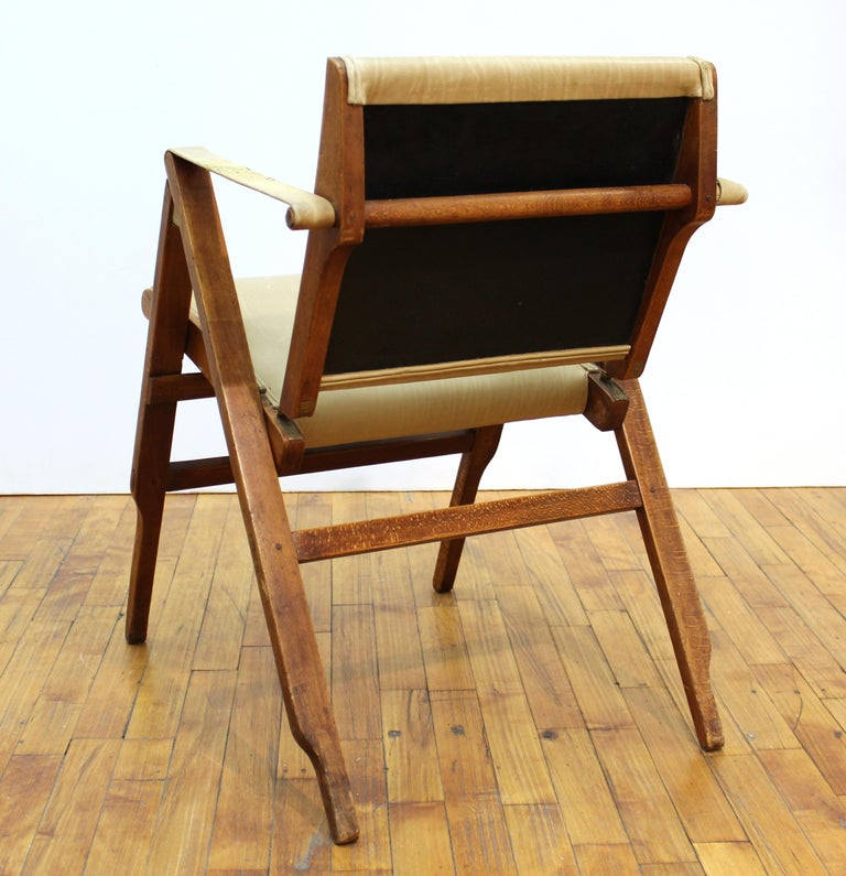 Marco Zanuso for Artflex Italian Mid-Century Modern Folding 'Bridge Chair' For Sale 4