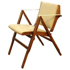 Marco Zanuso for Artflex Italian Mid-Century Modern Folding 'Bridge Chair'