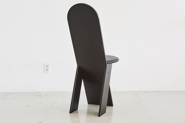 Mahogany Marco Zanuso for Poggi Angular Chairs For Sale