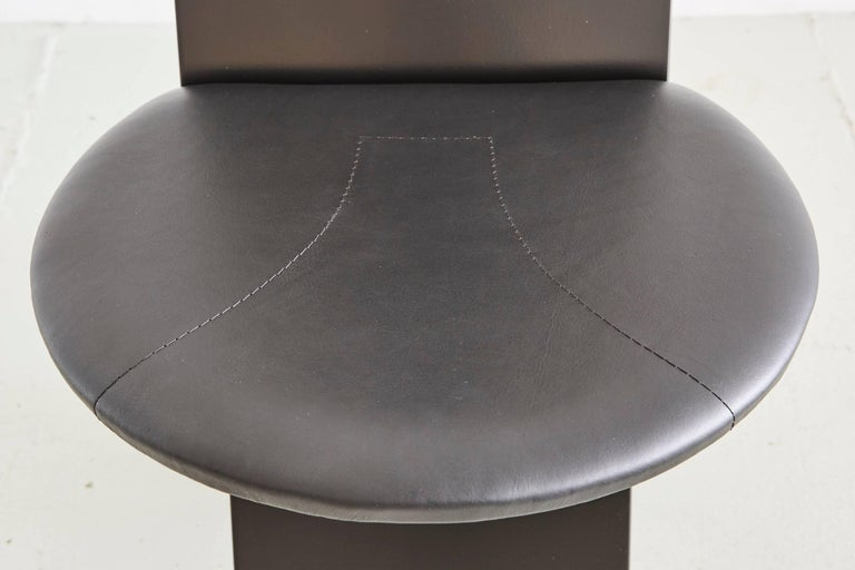Marco Zanuso for Poggi Angular Chairs For Sale 2