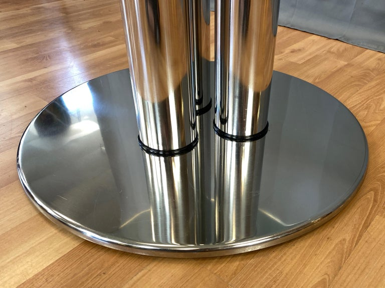 Marco Zanuso for Zanotta 2532 Marcuso Steel and Glass Dining Table, 1970 For Sale 5