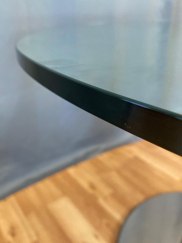 Marco Zanuso for Zanotta 2532 Marcuso Steel and Glass Dining Table, 1970 For Sale 10