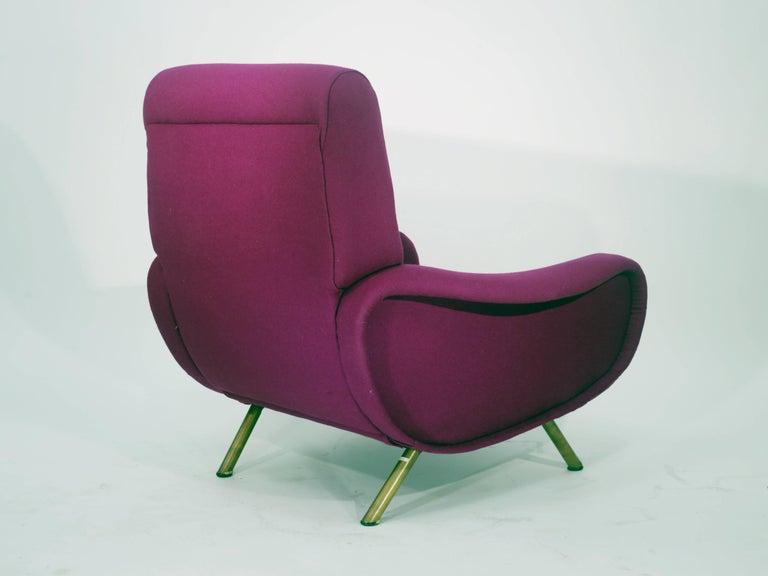 Brass Marco Zanuso Lady Chair by Artflex, 1951