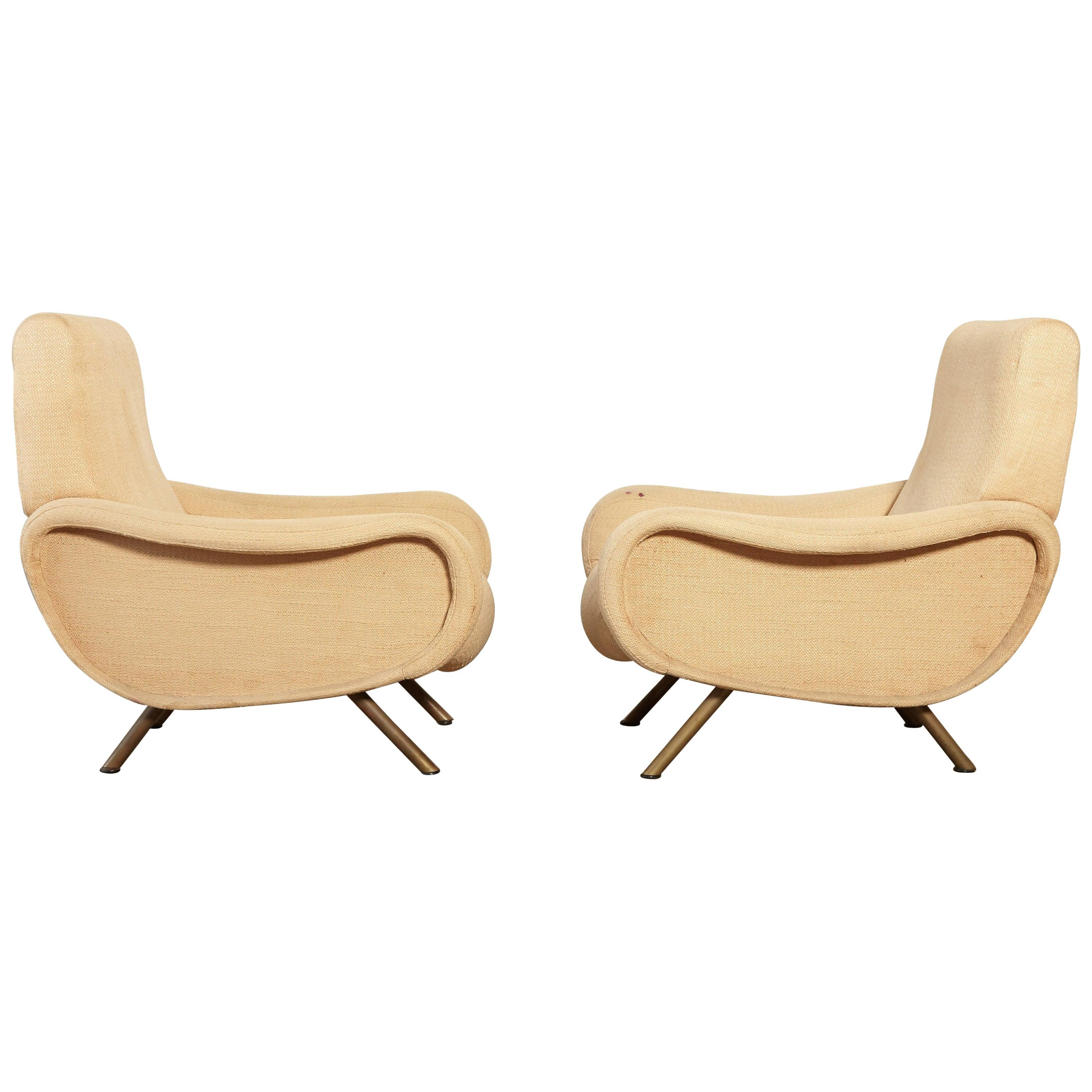 Marco Zanuso Lady Chairs, Arflex, Italy, 1950s, Includes Reupholstery in COM