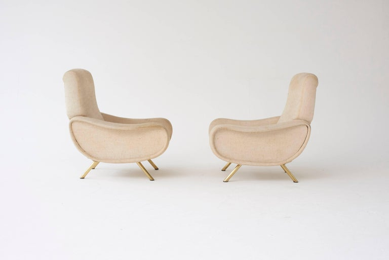 Mid-Century Modern Marco Zanuso Lady Chairs, Arflex, Italy, 1960s (complimentary reupholstery) For Sale