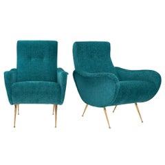 "Marco Zanuso ""Lady"" Style Armchairs"