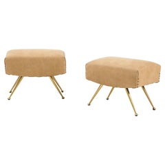 Marco Zanuso Leather, Brass Benches