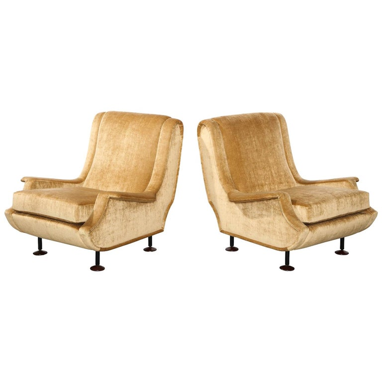 Marco Zanuso lounge chairs, 1960, offered by Donzella Ltd.