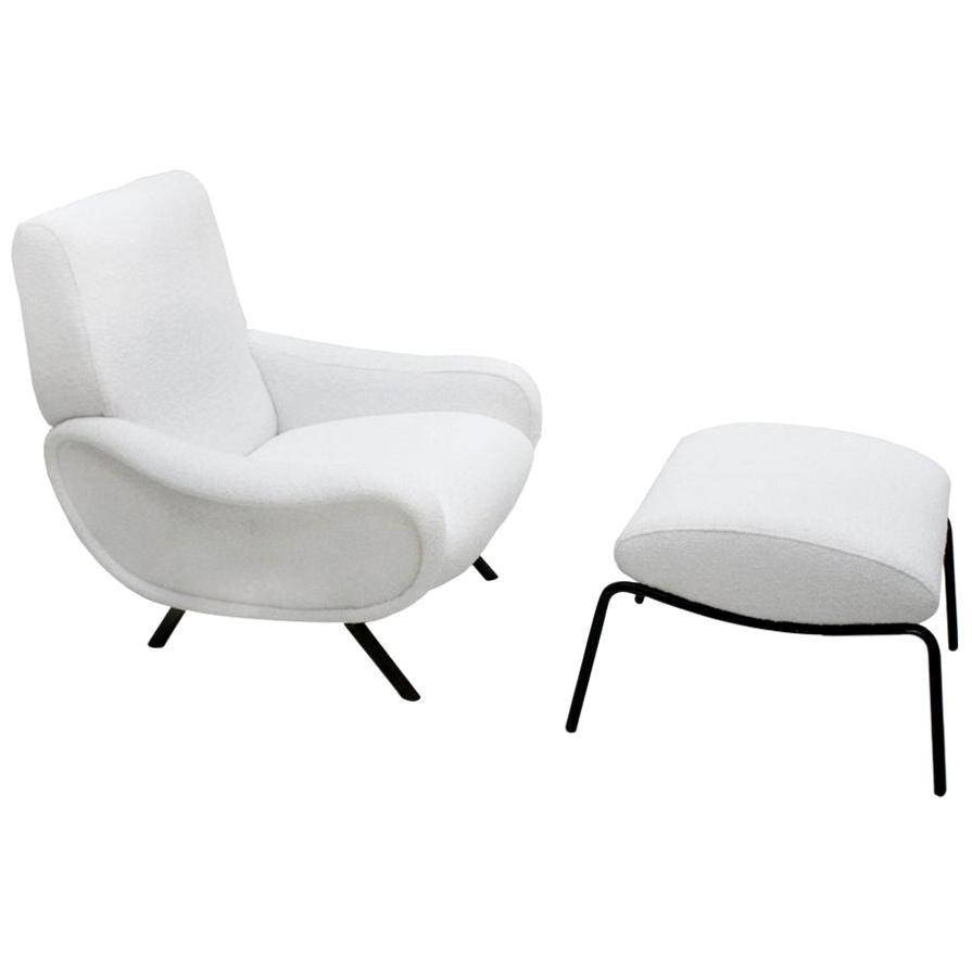 "Marco Zanuso Mid-Century Modern Mod ""lady"" Italian Armchair, 1950s"