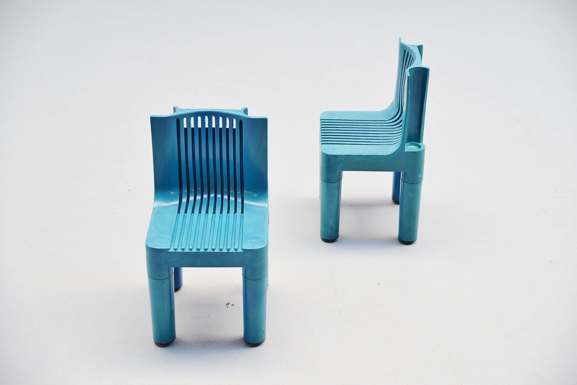 Rare Plastic Stackable Kids Chairs #4999/5 Designed By Marco Zanuso And  Richard Sapper