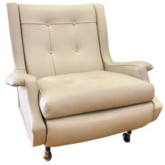 Marco Zanuso 'Regent' Lounge Chair, Arflex, Fully Restored Luxe Italian Leather