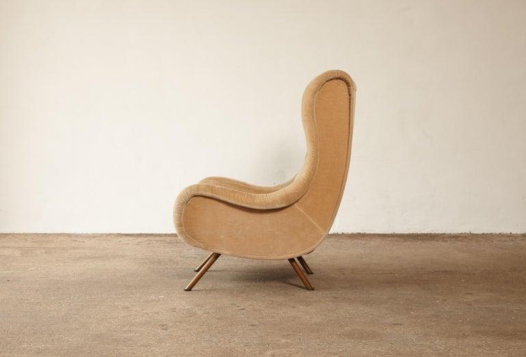 Brass Marco Zanuso Senior Chair, Arflex, Italy, 1960s
