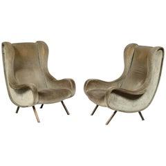 Marco Zanuso Senior Chairs, Arflex, Italy, 1960s (complimentary reupholstery)
