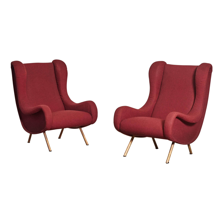 Marco Zanuso Senior Chairs, Arflex, Italy, 1960s