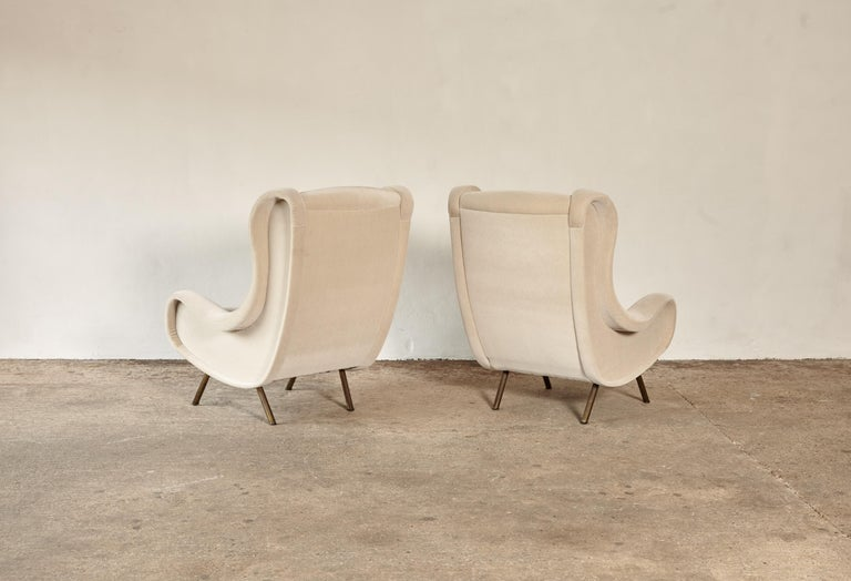 Marco Zanuso Senior Chairs, Mohair Velvet, Arflex, Italy, 1960s 3