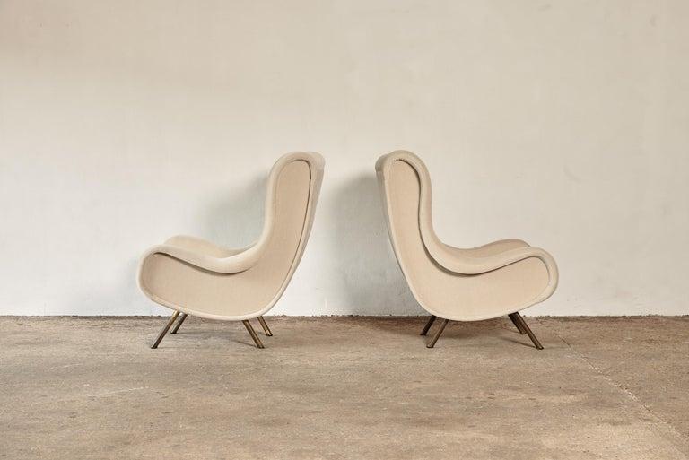 Marco Zanuso Senior Chairs, Mohair Velvet, Arflex, Italy, 1960s 4