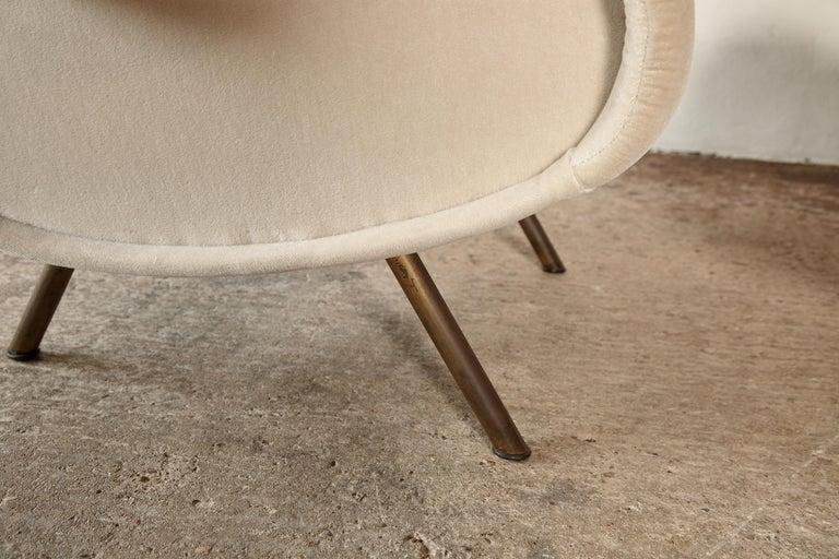 Marco Zanuso Senior Chairs, Mohair Velvet, Arflex, Italy, 1960s 9