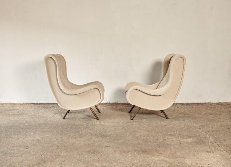 Marco Zanuso Senior Chairs, Mohair Velvet, Arflex, Italy, 1960s 2