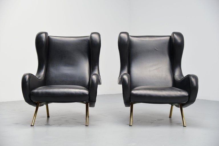 Marco Zanuso Senior Lounge Chairs Arflex, Italy, 1951 In Good Condition For Sale In Roosendaal, Noord Brabant