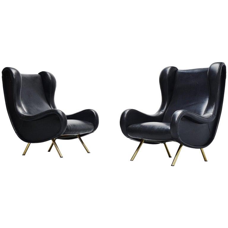 Marco Zanuso Senior Lounge Chairs Arflex, Italy, 1951 For Sale