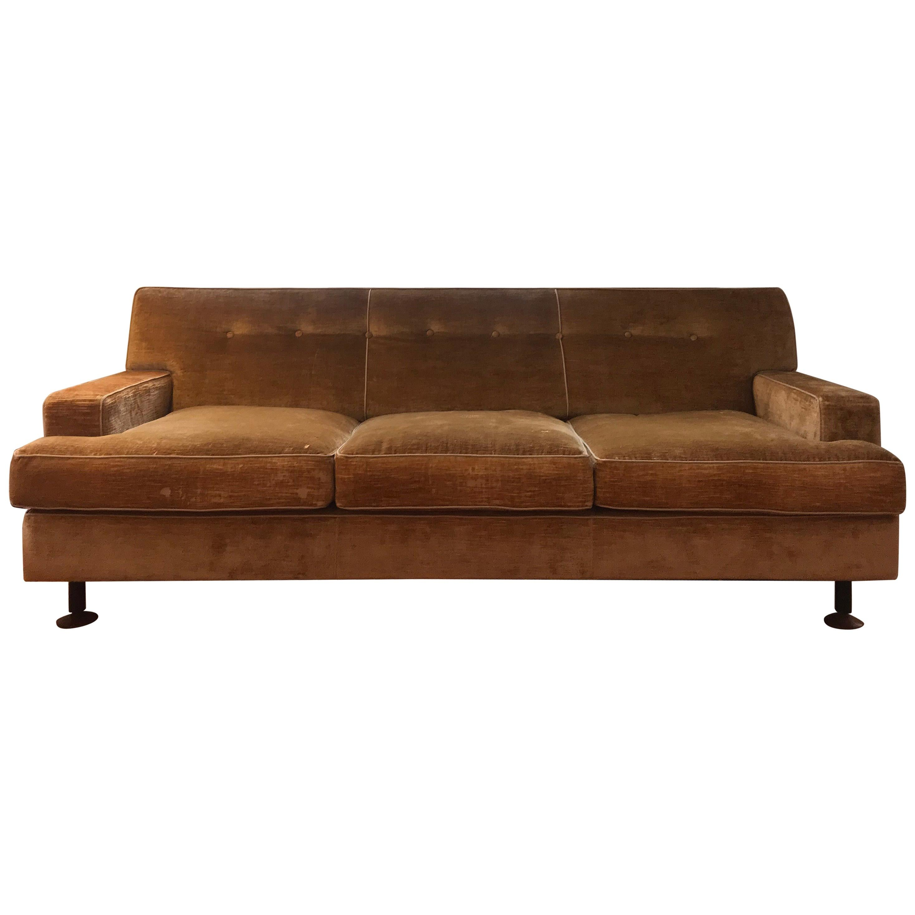 Marco Zanuso Set of Two Square Sofa and Two Armchairs for Arfnex, 1960s