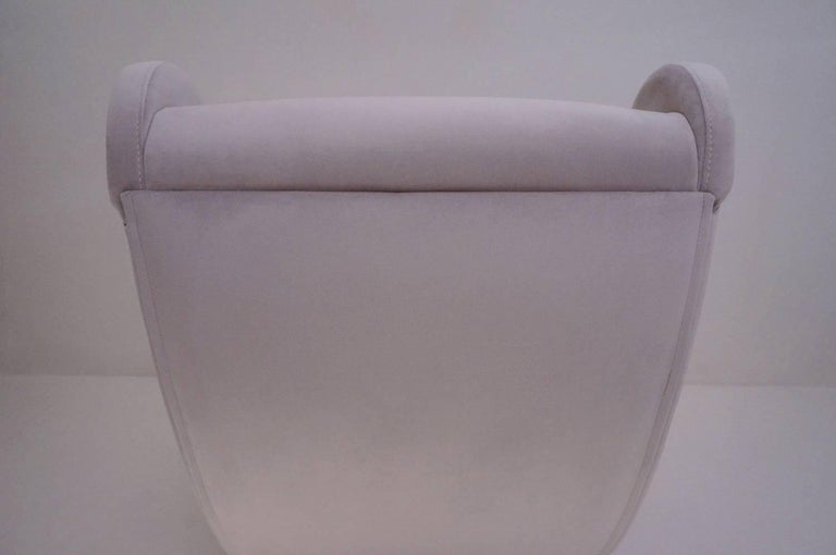 Marco Zanuso Style Senior Armchair, Available in 25 Colors of Velvet, Italian For Sale 7