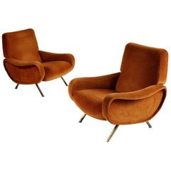 Marco Zanuso, Triennale Sofa and Pair of Lady Armchairs Set, Italy, 1950