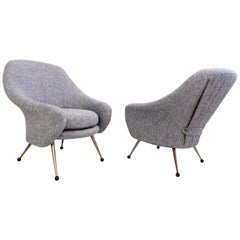 Pair of  mid-Century Modern Martingale Armchairs by Marco Zanuso for Arflex