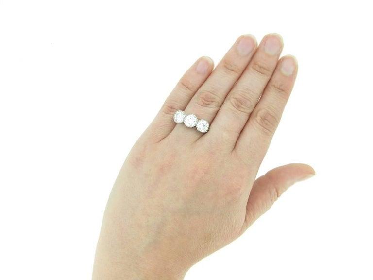 Women's Marcus & Co Three-Stone Diamond Ring For Sale