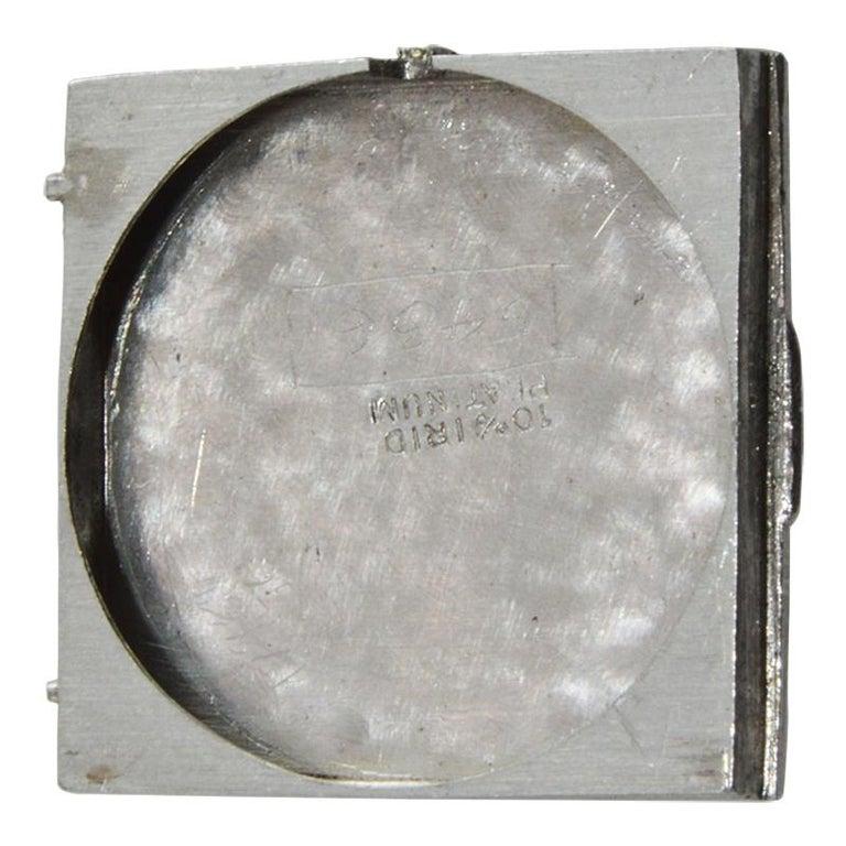 Marcus & Co. Ladies Platinum Dress Style Watch circa 1930s Handmade For Sale 6