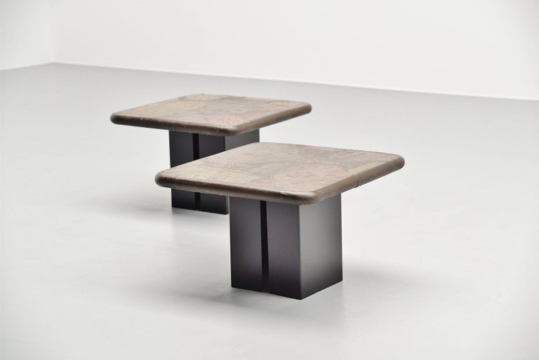 Marcus Kingma Sofa Table Pair, Holland, 1988 For Sale 3
