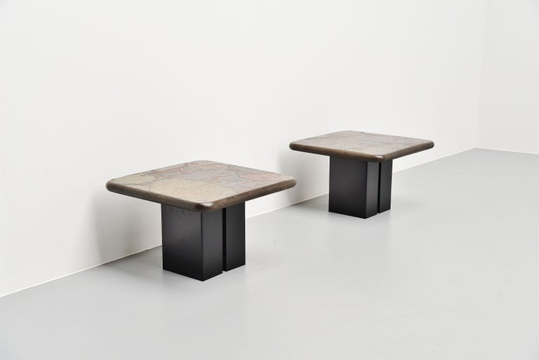 Marcus Kingma Sofa Table Pair, Holland, 1988 For Sale 1