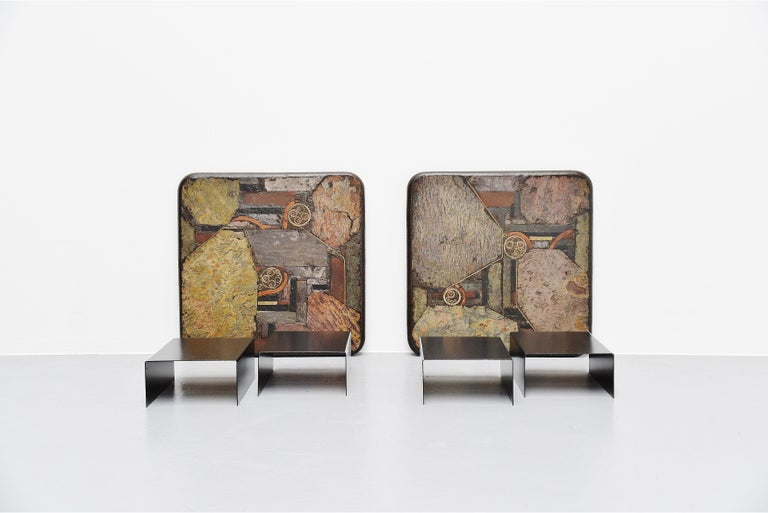 Marcus Kingma Sofa Table Pair, Holland, 1988 For Sale 2