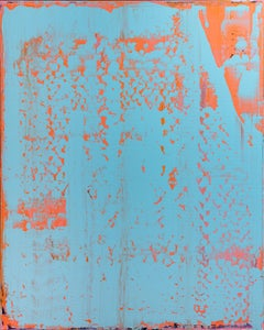 Instabil - Minimalism, abstract art, painting, contemporary art, orange, blue
